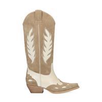 Sacha Beige western boots met off white details  - beige