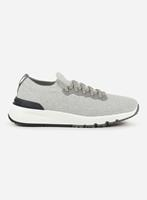 Brunello cucinelli Knitted low-top sneaker Lichtgrijs