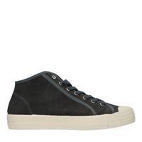Sacha Donkergrijze hoge canvas sneakers  - grijs