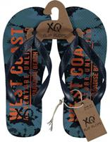 XQ Footwear teenslippers West Coast jongens EVA blauw