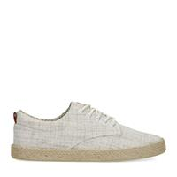 Sacha Beige canvas sneakers met print  - beige