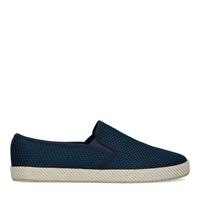 Sacha Donkerblauwe canvas loafers met gewoven touwzool