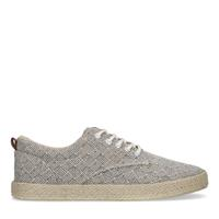 Sacha Beige canvas sneakers met all over print  - beige