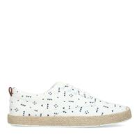 Sacha Witte canvas sneakers met all over print  - wit