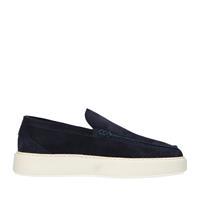 Sacha Donkerblauwe loafers met witte zool