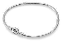 Zilveren Bedelarmdband met -Slot 18 cm