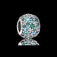 Pandora Oceaanblauwe Pavé Bedel