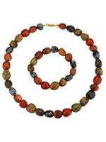2-delige set: ketting en armband  multicolor