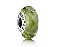 Pandora Olijf-groene Facet Kristal-bedel 791729NLG