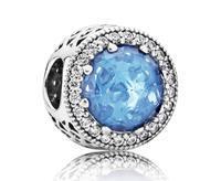 Pandora bedel met hemelsblauwe steen 791725NBS