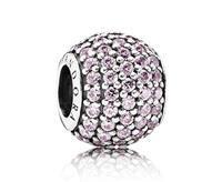 Pandora bedel zilver 'Roze Pavé Ball' 791051PCZ