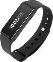 "Technaxx TouchTX-72 Wristband activity tracker 0.91"" OLED Draadloos IP67 Zwart"