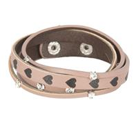 Clayre & Eef Armband Hearts and stones