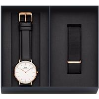 Daniel Wellington DW00500002 Combo Man: Classic Sheffield Black-Rosé horloge + Classic Cornwall band (40 mm)