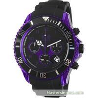 ice-watch IW000681 Chrono Black Purple Big Heren Horloge