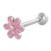Piercings.nl Tongpiercing bloem roze