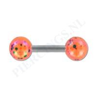 Piercings.nl Helix gespikkelde coating oranje