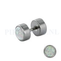 Piercings.nl Nep plug opaal nep plugs
