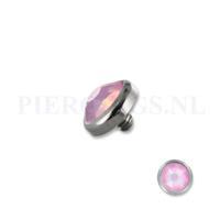 Piercings.nl Dermal balletje 1.2 mm opaal roze