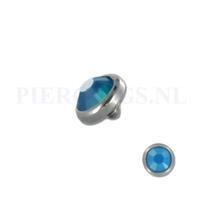 Piercings.nl Dermal balletje 1.2 mm opaal blauw
