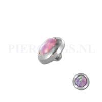 Piercings.nl Dermal balletje 1.2 mm opaal multi glans roze