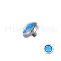 Piercings.nl Dermal balletje 1.2 mm opaal multi glans blauw