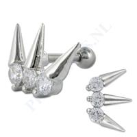 Piercings.nl Helix spikes