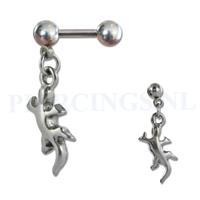 Piercings.nl Helix hangende hagedis