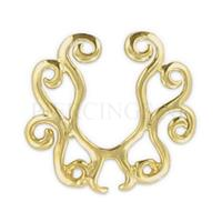 Piercings.nl Tepelclip shield goud kleur tribal
