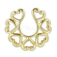 Piercings.nl Tepelclip shield goud kleur tribal groot
