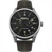 Superdry Heren Horloge Aviator SYG208BN Bruin