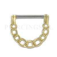Piercings.nl Tepelpiercing klik goudkleurig ketting