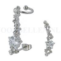 piercings.nl Oorsteker - helix kristal ster