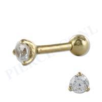Piercings.nl Helix goud 14 karaat met kristal