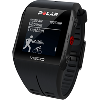 Polar Black V800 Bluetooth Heart Rate Monitor GPS Smart Unisexchronograph in Schwarz 90060771