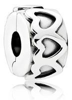 Pandora Clip-Stopper Bedel zilver ´Hearts' 791978