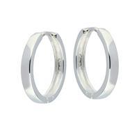 Best Basics Zilveren klapcreolen - vierkante buis 3 mm 107.0073.20