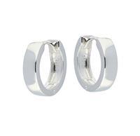 Best Basics Zilveren klapcreolen - vierkante buis 4 mm 107.0074.16