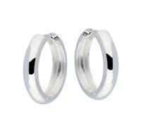 Best Basics Zilveren klapcreolen - ronde buis 4 mm 107.0068.20