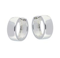 Best Basics Zilveren klapcreolen - vierkante buis 6 mm 107.0075.16