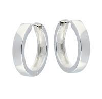 Zilveren klapcreolen - vierkante buis 4 mm 107.0074.20