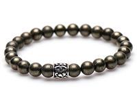 Karma Armband Pyrite silver logo bead 86557