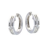 Best Basics Zilveren klapcreolen - zirkonia - 4 mm - gerodineerd 107.5193.00