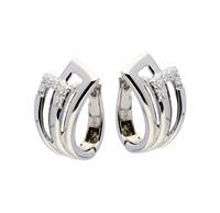 Elegance Zilveren Oorbellen klapcreolen met zirconia 107.6152.00