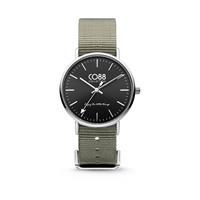 CO88 Collection - Horloge staal/nylon 36 mm rosé/grijsgroen 8CW-10018