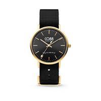 CO88 Collection - Horloge staal/nylon 36 mm goud/zwart 8CW-10019