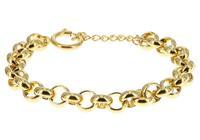 IXXXI Armband Dakar Jasseron staal goudkleurig 17-20 cm S0570199001