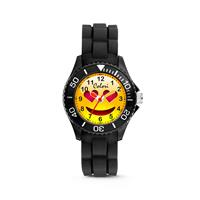 Colori kinderhorloge Happy Smile zwart 30 mm 5-CLK073