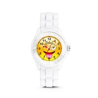 kinderhorloge Happy Smile zwart 30 mm 5-CLK078