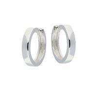Zilveren klapcreolen - vierkante buis 3 mm 107.0073.16
